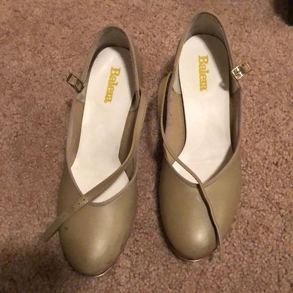 61687f82e4b balera Shoes - Balera tan heeled tap shoes for dance